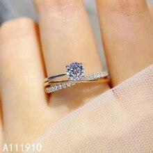 KJJEAXCMY feine schmuck 925 sterling silber eingelegten Mosang Diamant edelstein damen ring unterstützung erkennung beliebte