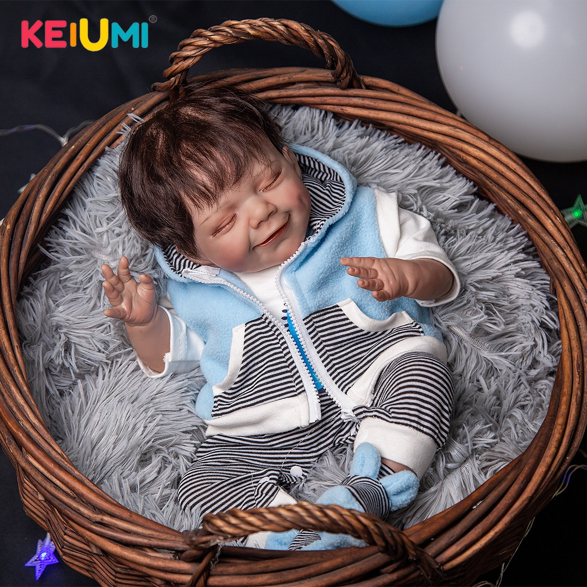 Super Soft 50 cm Memory Doll Reborn Baby Dolls Rooted Fiber Hair Silicone Cloth Body Reborn Bebe Toy