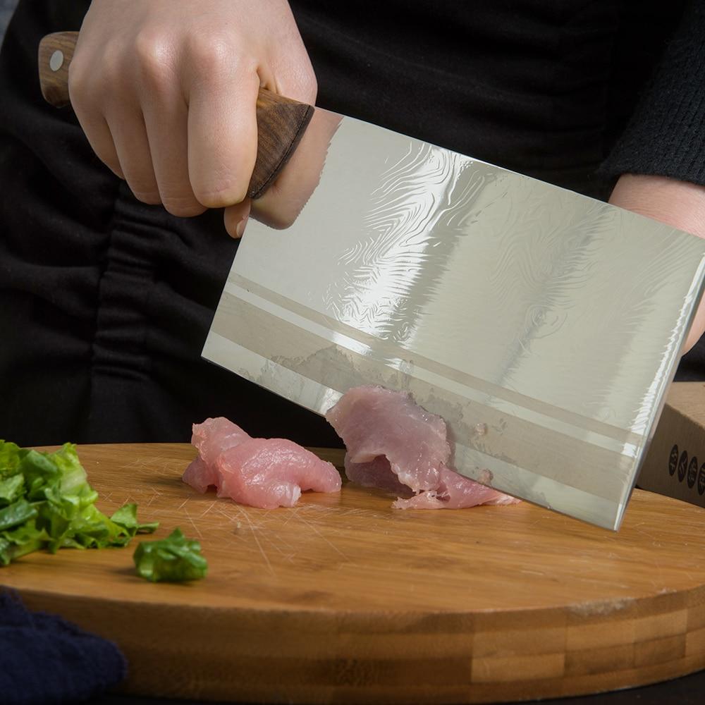 Caja de regalo, cuchillo de carnicero bien empaquetado, cortador de acero inoxidable, cuchillo de carnicero chino, cuchillo de cocina, cuchillo de Chef, herramientas de cocina con mango de madera