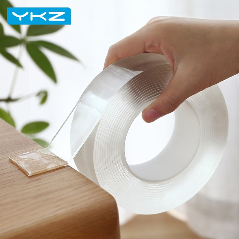 YKZ 1/3/5M Nano magic Tape Double Sided Tape Transparent NoTrace Reusable Waterproof Adhesive Tape Cleanable Home tape