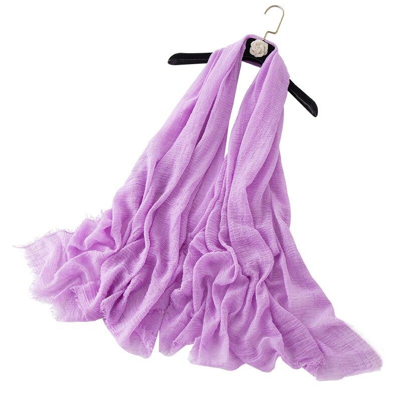 190*100cm Solid Color Classic Women Muslim Solid Plain Chiffon Hijabs Long Georgette Scarf Shawls Islamic Headwear Wraps Scarves