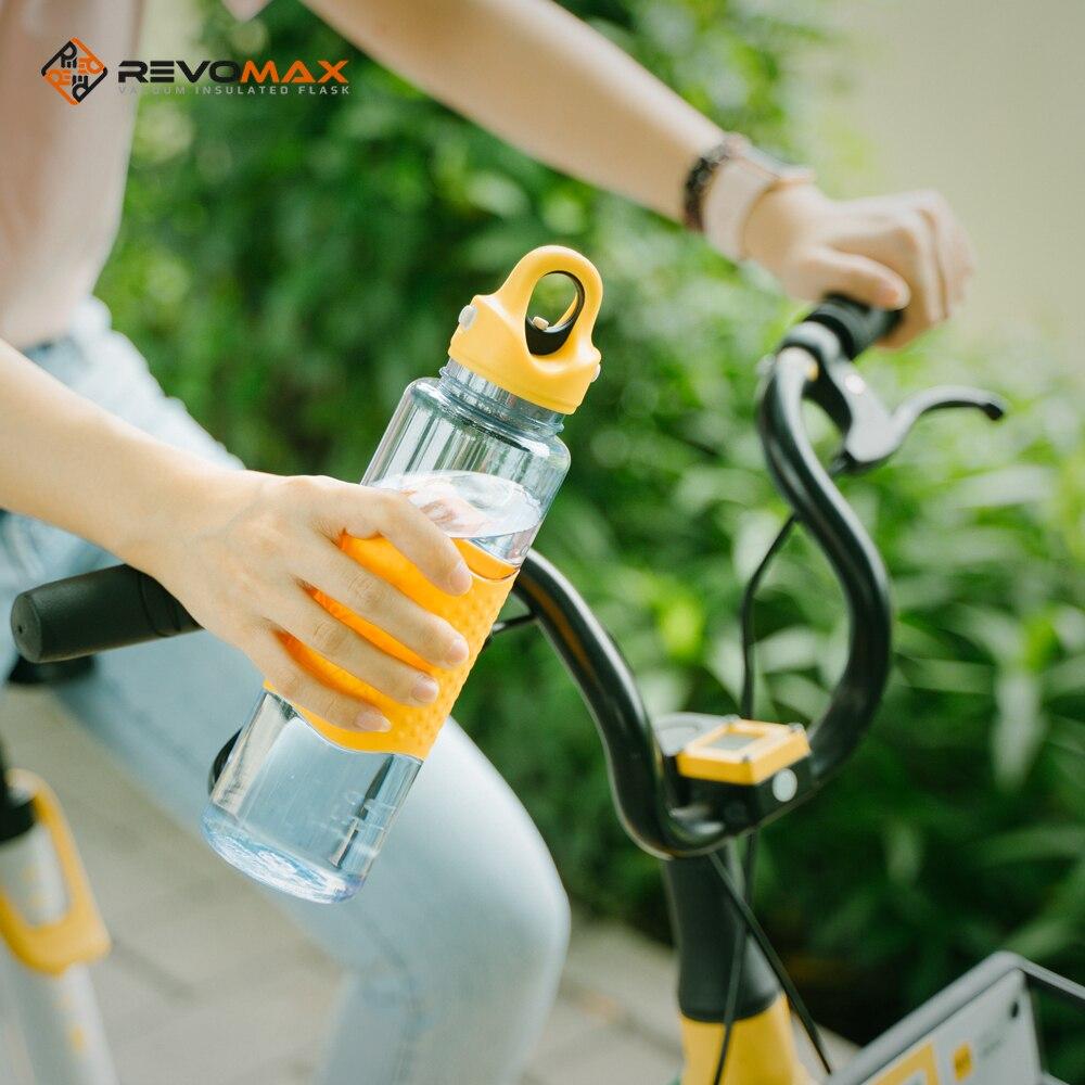 Revomax 650ml /22oz Sports cup Twist-Free-Screw Tritan Water Bottle w/Leak Proof Single-Handed Cap O