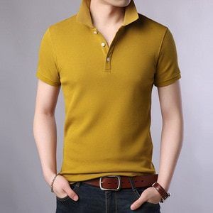 2021 New Fashion Brands Polo Shirt Men's 100% Cotton Summer Slim Fit Short Sleeve Solid Color Boys Polos Casual Mens Clothing