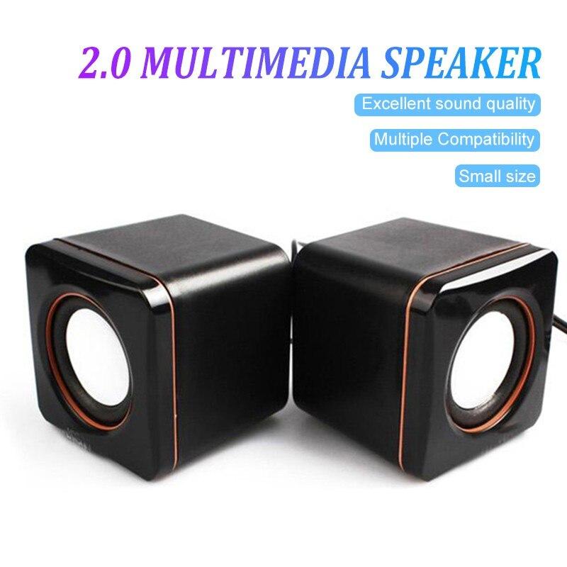 New Arrival USB 2.0 Music Speaker Mini Music Stereo Speaker 3.5mm Pulg for Multimedia Desktop Computer Notebook