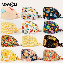 Wholesale Unisex Health Workers Frosted Hat Lab operator work cap Beauty salon Print Hat adjustable