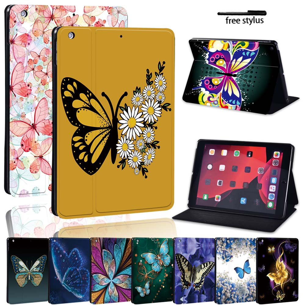 PU Leather Stand Tablet Cover Case for Apple IPad 8 2020 10.2/iPad Mini 12345/iPad AirAir2/iPad Pro 11/10.5/9.7 inch Case + Pen mandala pu leather stand cover case for apple ipad ipad mini ipad air ipad pro tablet lightweight durable protective case