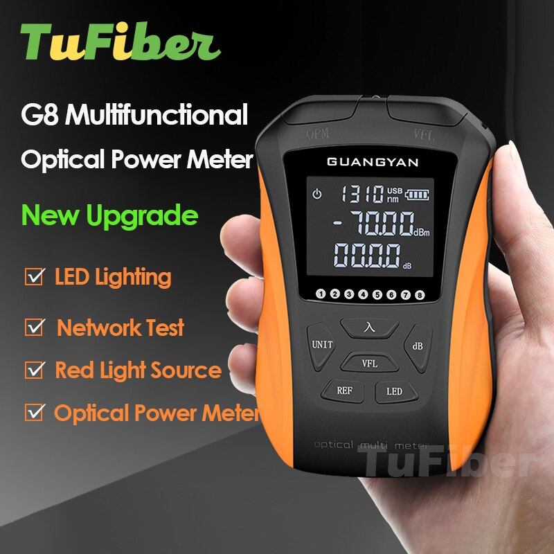 6 في 1 الألياف البصرية السلطة متر عالية الدقة قابلة للشحن OPM G8 البصرية خطأ محدد شبكة كابل اختبار خط مكتشف VFL
