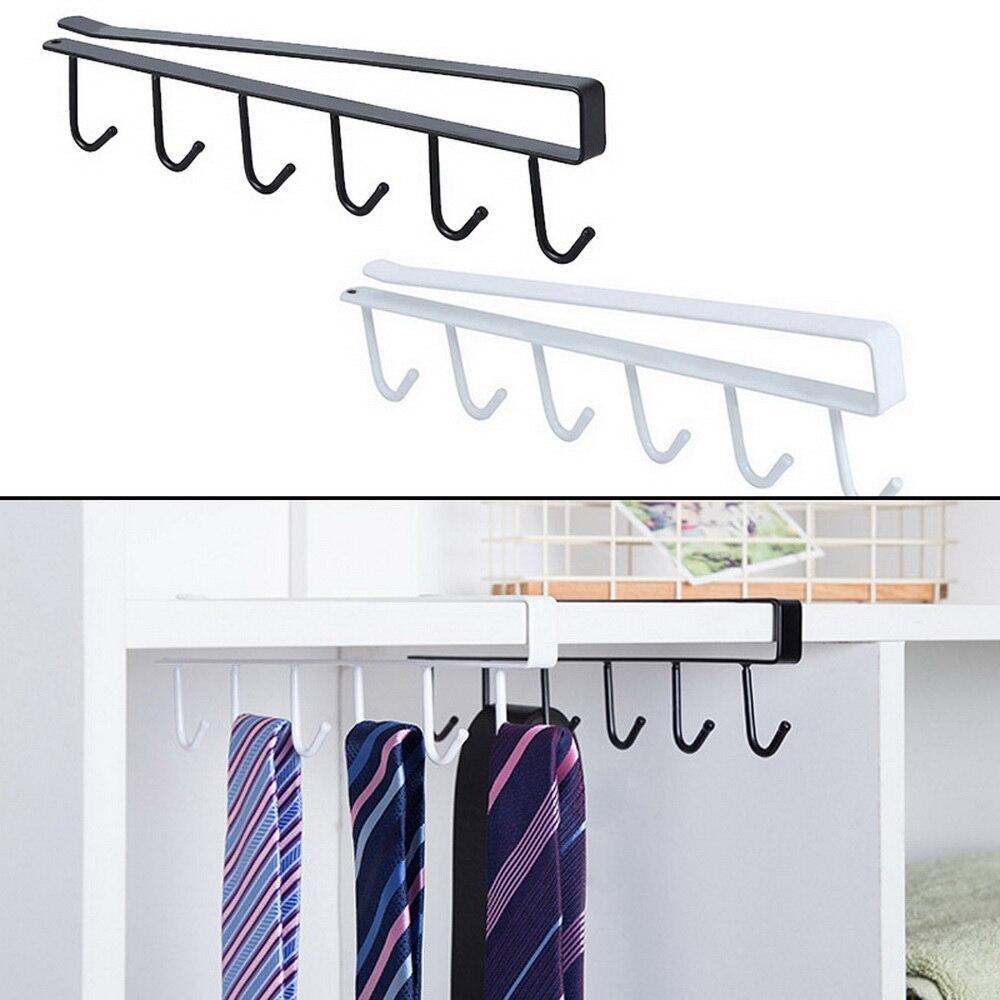 Armario gancho colgante estante de almacenamiento de cocina organizador armario estante de ropa soporte de taza de vidrio colgador de armario
