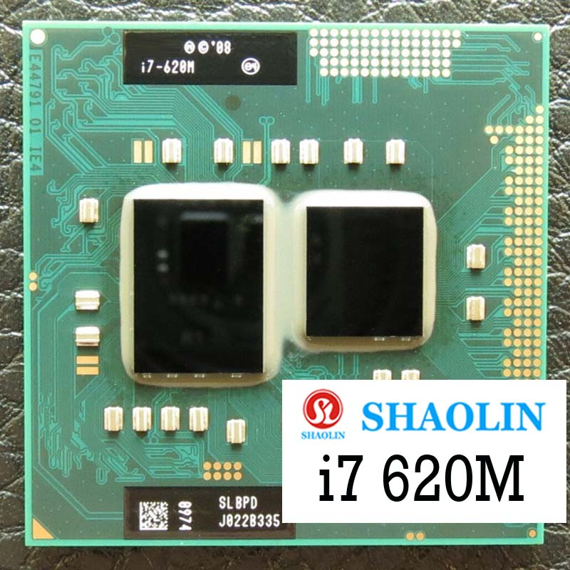 I7-620M i7 620 متر SLBTQ SLBPD 2.6 جيجا هرتز ثنائي النواة رباعية موضوع معالج وحدة المعالجة المركزية 4 متر 35 واط المقبس G1 / rPGA988A الأصلي شاولين الرسمي Ve
