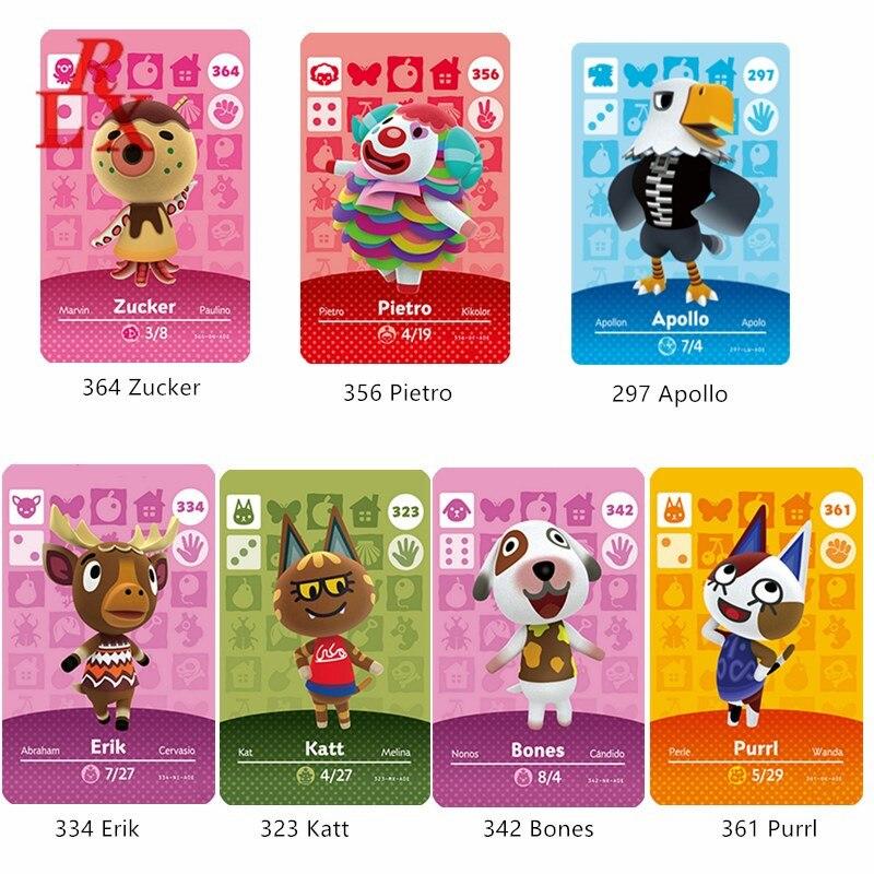 Animal Crossing caliente aldeano huesos Purrl Zucker Erik Katt NFC tarjeta de juego Animal Crossing nuevos horizontes para la tarjeta de Amiibo NS interruptor