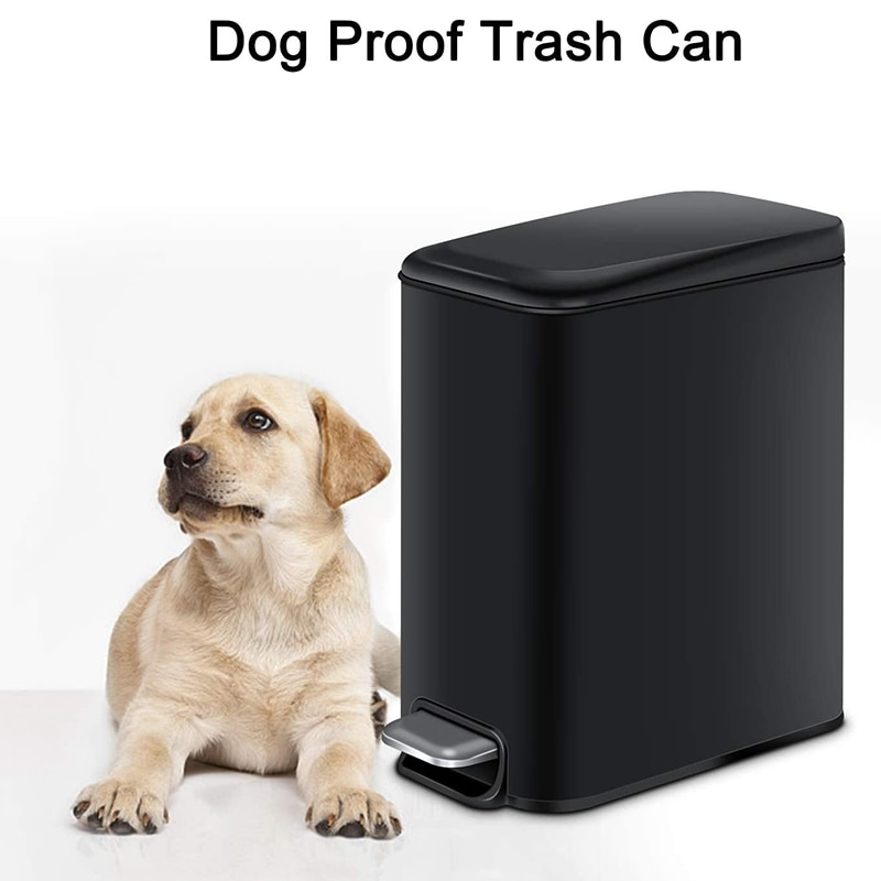 Bathroom Trash Can Foot Pedal Trash Can With Lid Kitchen Household Trash Can Cleaning Tool Accessories Bathroom Storage enlarge