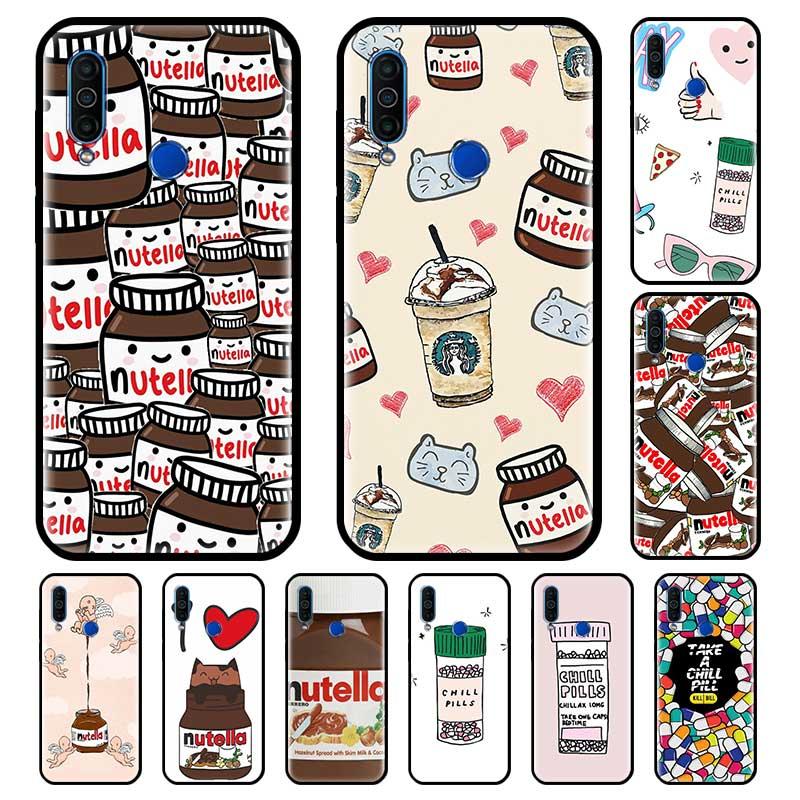 Escalofríos pastillas Chocolate Nutella para Meizu M6 16 17 16s Pro 16th 16T 16Xs negro silicona teléfono casos de Fundas Capa