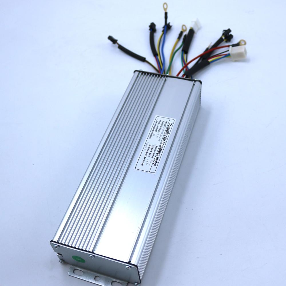 Controlador de Motor CC sin escobillas 60V 72V 2000W 60Amax Kunteng Ebike controlador de onda sinusoidal