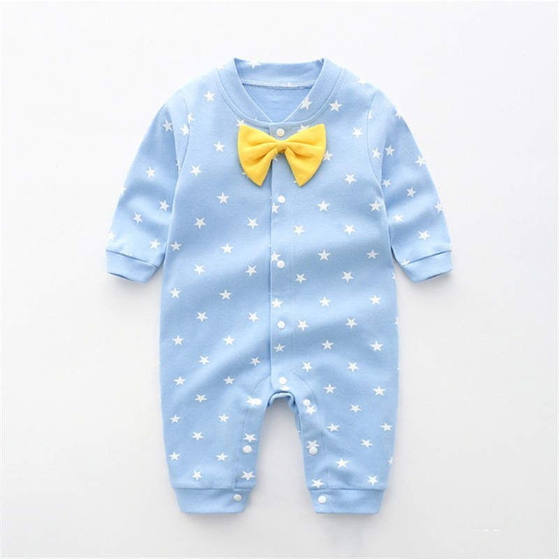 Baby Boys Girls Romper Cotton Long Sleeve Stars Jumpsuit Infant Clothing Autumn Newborn Baby Clothes cute newborn baby clothing long sleeve cotton solid baby rompers peter pan collar girls boys clothes jumpsuit infant costumes