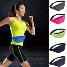 Waterproof Running Bag Sports Chest Shoulder Bags Belt Bum Pouch Phone Unisex Waistbag Hiking Zip Bag Pack 6 Colors