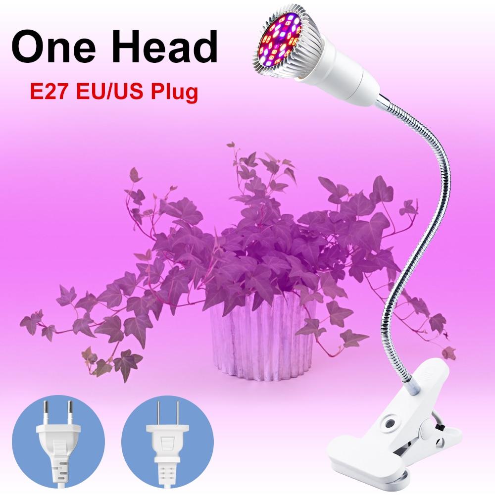 WENNI LED Plant Growing Lamp Full Spectrum LED Hydroponics Lighting E27 Grow Light LED Bulb Seedling Fitolamp 18W 28W Phyto Lamp