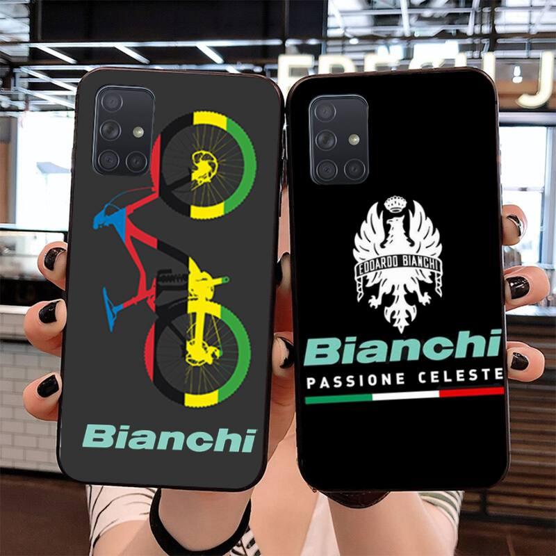 Bianchi, Logo de bicicleta, equipo de bicicleta, Impresión de teléfono, carcasa, carcasa para Samsung S20 plus Ultra S7 S6 edge S8 S9 plus S10 5G lite 2020