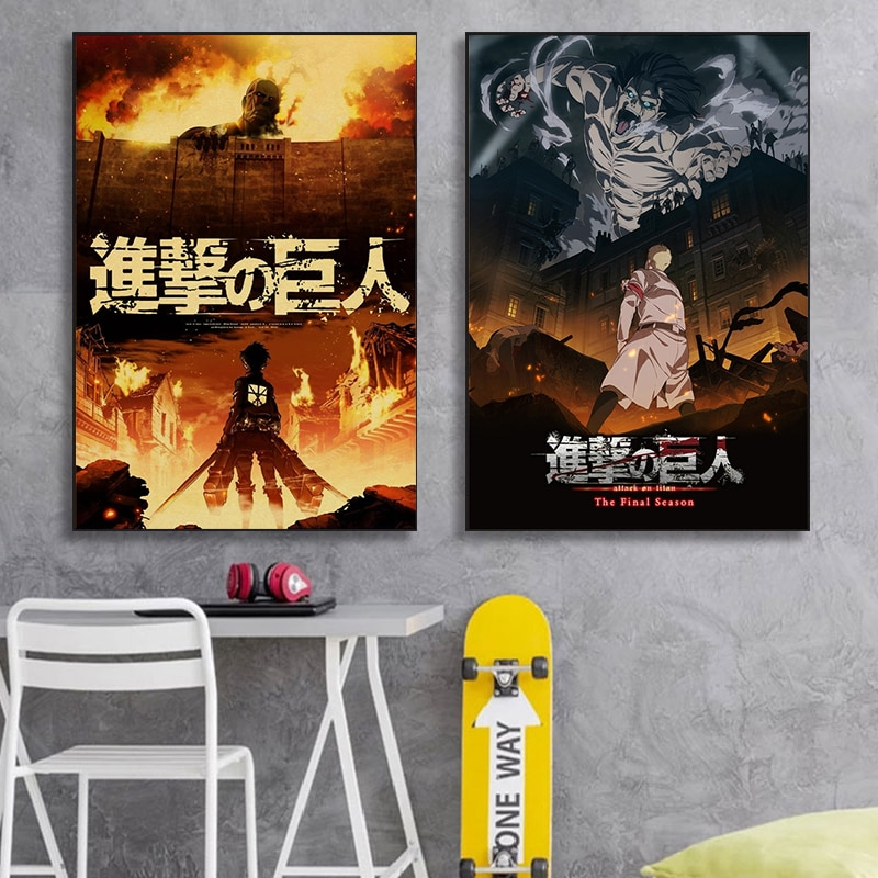 high-definition-printing-japanese-anime-attack-on-titan-canvas-poster-creative-picture-wall-art-home-lnterior-decoration