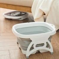 portable foot soaking bucket folding basin pvc foaming massage bucket household sauna bathtub pedicure bath foldable bathtub