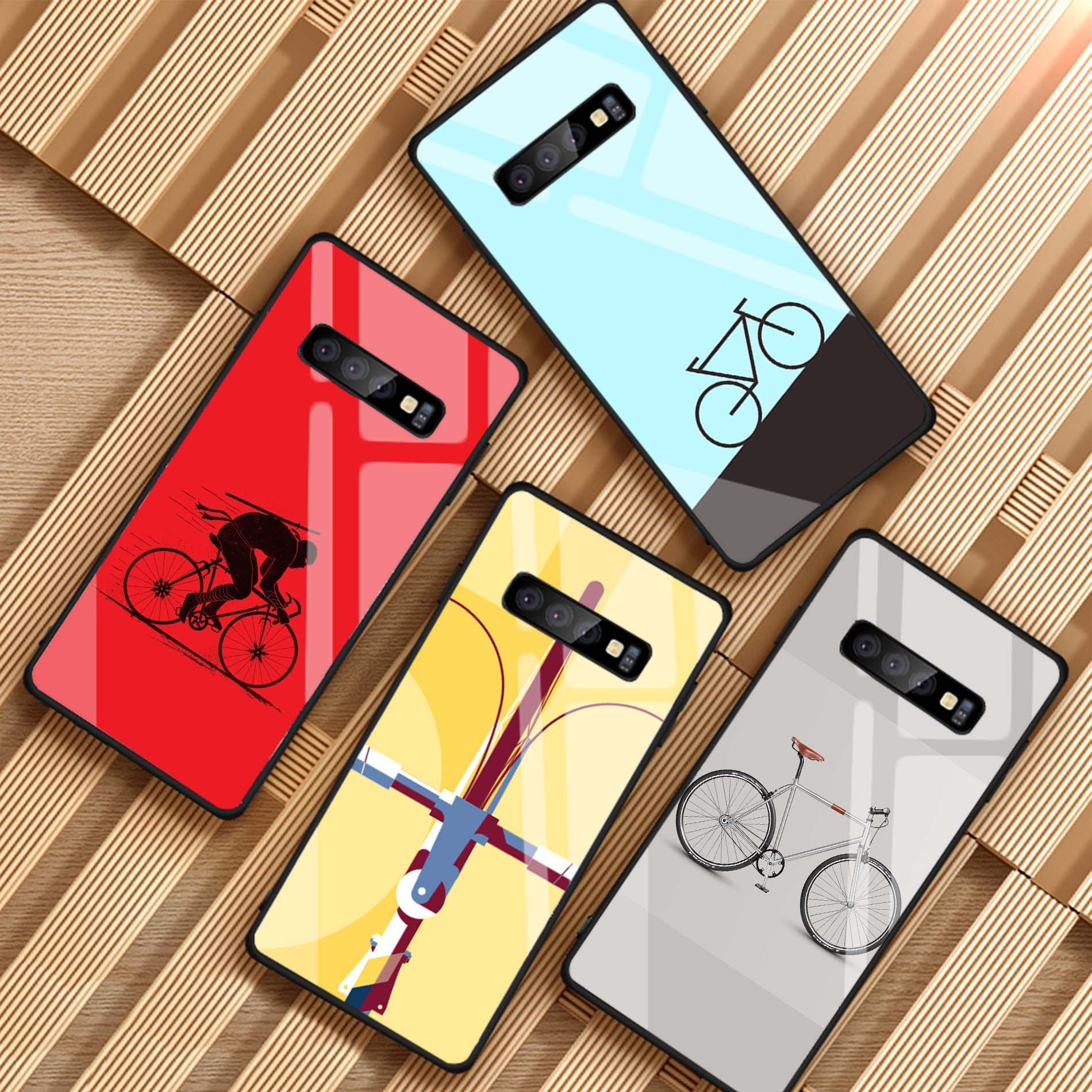Bicicleta ciclismo funda de vidrio templado para teléfono para Samsung Galaxy A6 A6S A8 J6 J8 2018 Nota 8 9 S8 S9 S10 PLUS