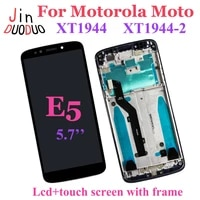 for motorola moto e5 xt1944 lcd display touch screen digitizer assembly with frame for moto e5 lcd replacement usbrazil version