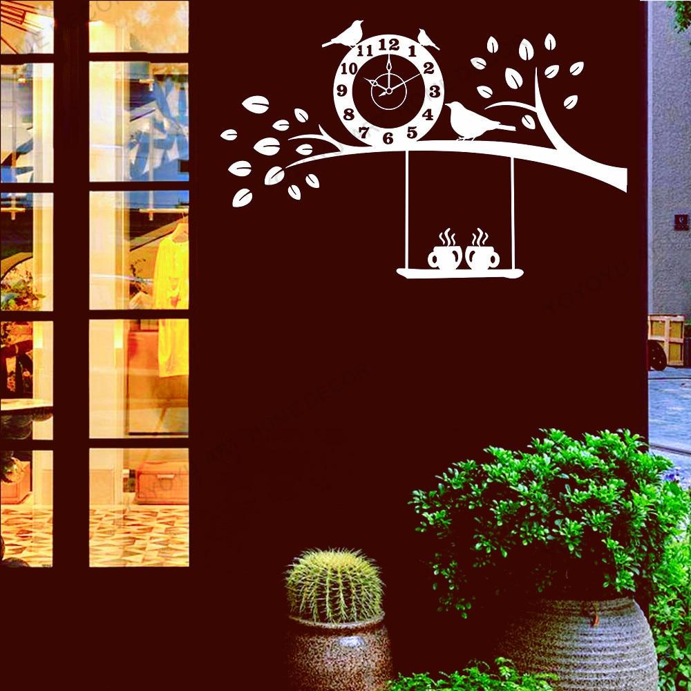 Café pão bebida decalque da parede sinal café snack bar padaria decoração interior papel de parede geladeira janela vinil adesivo logotipo rb294