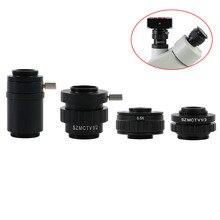 Microscope caméra adaptateur SZMCTV 1/2 1/3 0.5X 1X c-mount adaptateur lentille pour Simul Focal trinoculaire stéréo Microscope