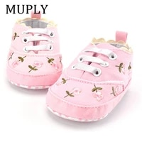 2021 fashion spring autumn baby shoes for newborn print floral baby girls soft sole first walkers anti slip baby shoes for 0 18m