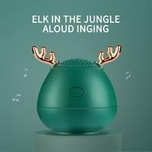Креативный Рождественский подарок, милая Bluetooth колонка с оленьими рогами, Мини Беспроводная колонка, TF карта, USB Сабвуфер, портативная Музыка MP3