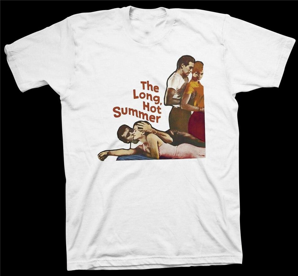 Camiseta larga de verano caliente William Faulkner Paul Newman película de cine de Hollywood camiseta impresa personalizada