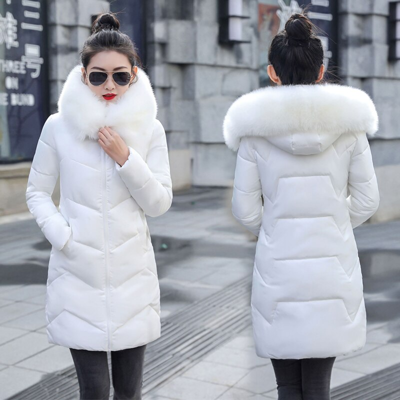 2020 New Parka Womens Winter Coats Womans Plus size 7XL Long Cotton Casual Fur Hooded Jackets Warm Parkas Female Overcoat Coat