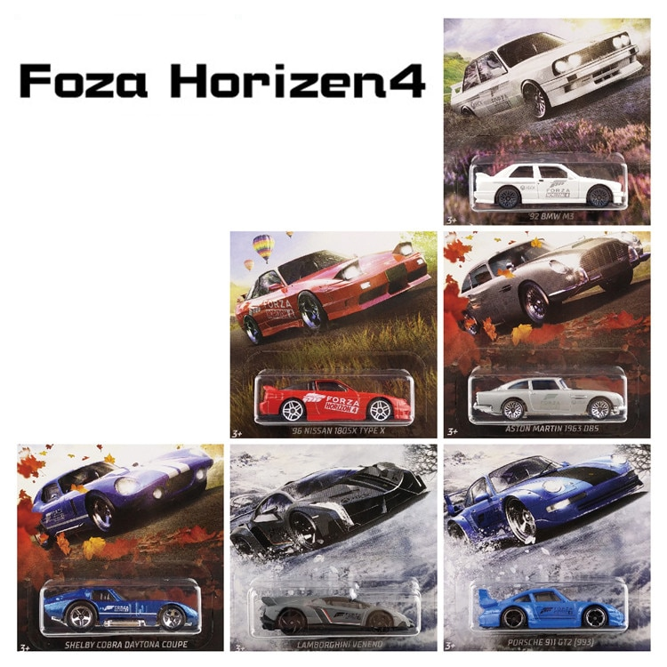 Hot Wheels 164 sport Auto FORZA HORIZON 4 NISSAN SHELBY ASTON MARTIN Collector Edition Metall Diecast Modell Auto Kinder Spielzeug Geschenke