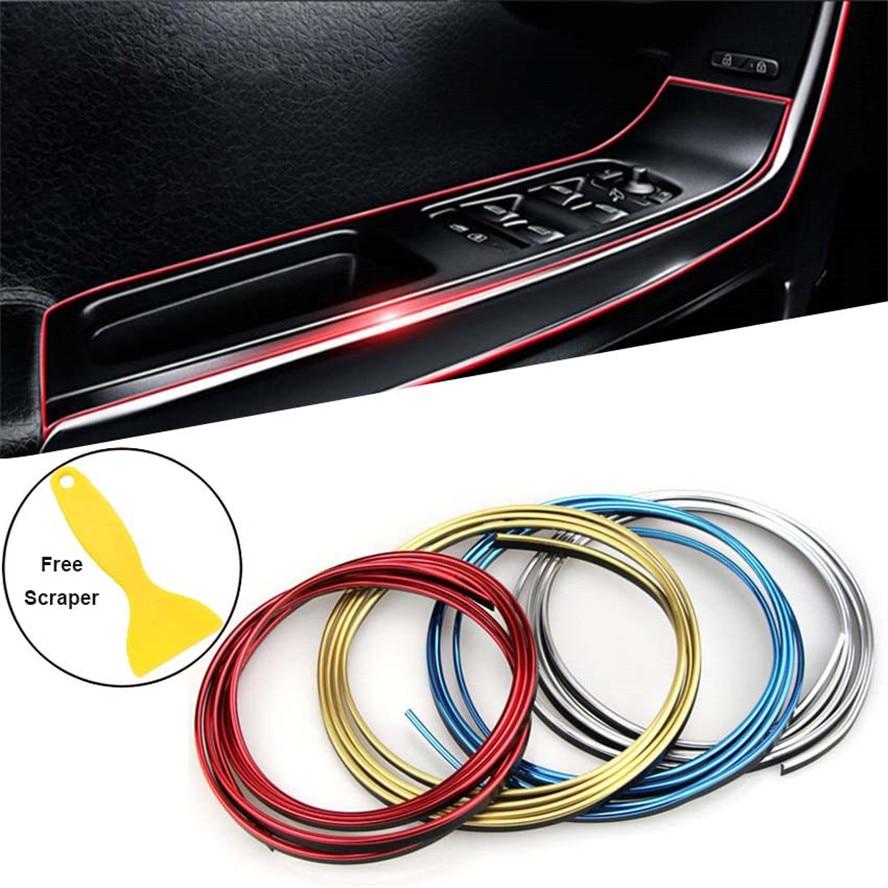 Tira decorativa para coche Borde de puerta Trim Interior para Volvo S90 XC90 XC XC70 V70 S80 bienes que universo C30 S80L C70 V50 S40