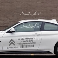 creative citroen car brands gps tracking device security stickers car stickers diy adhesive window car sticker