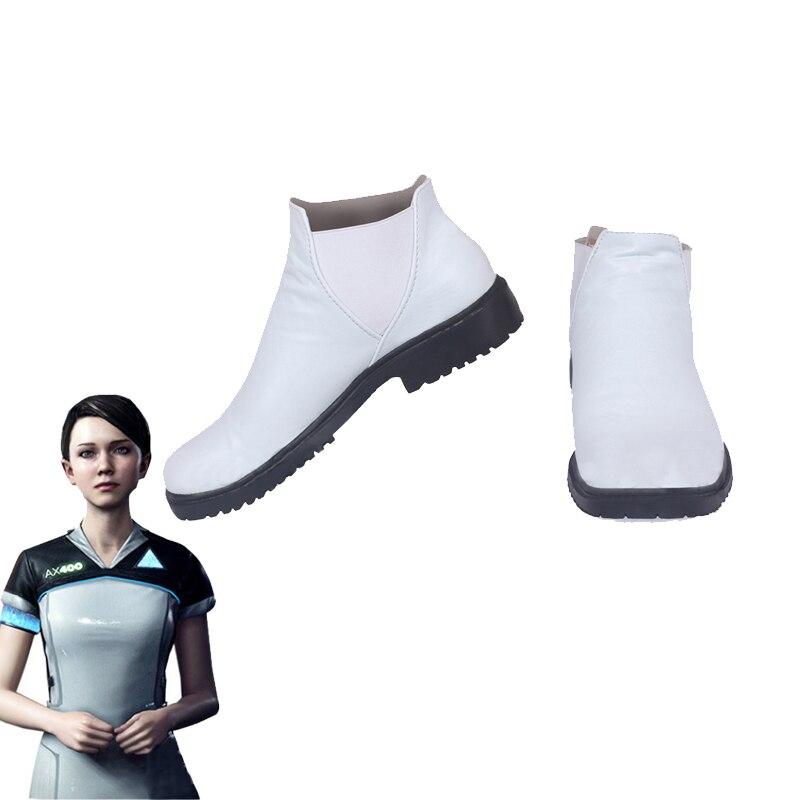 Juego de Detroit conviértete en un ser humano, zapatos Cosplay, código AX400 botas de agente, Carnaval de Halloween, accesorios de Cosplay hechos a medida