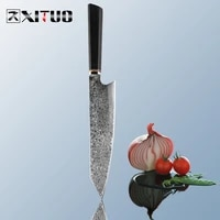 xituo new japanese chef knives t head unique handmade santoku knife vg10 damascus steel cleaver slicing filleting knives kitchen