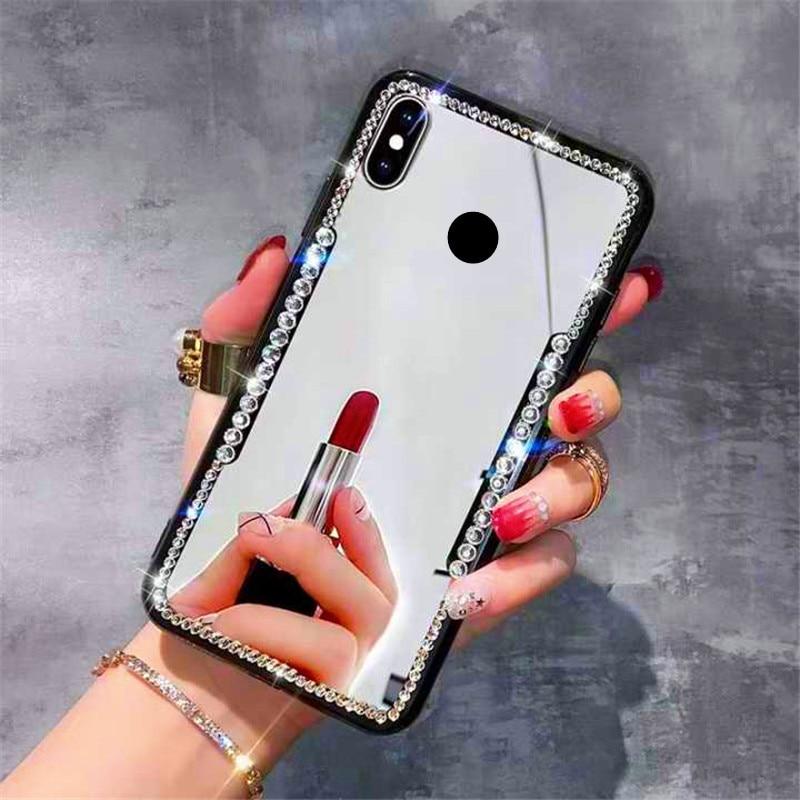Neto caliente brillo espejo de maquillaje mujer funda para Huawei Honor 20S 20 Pro 20 Lite 20i 10i 10 9 Lite 9X Pro 9i 8X 8C 8A 8S 7A 7X 7C