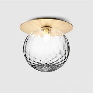 Modern Glass Ball Ceiling Light Fixture Bedroom Room Small Lamp Hallway Stairs Aisel Home Lighting Lamparas De Techo Colgantes
