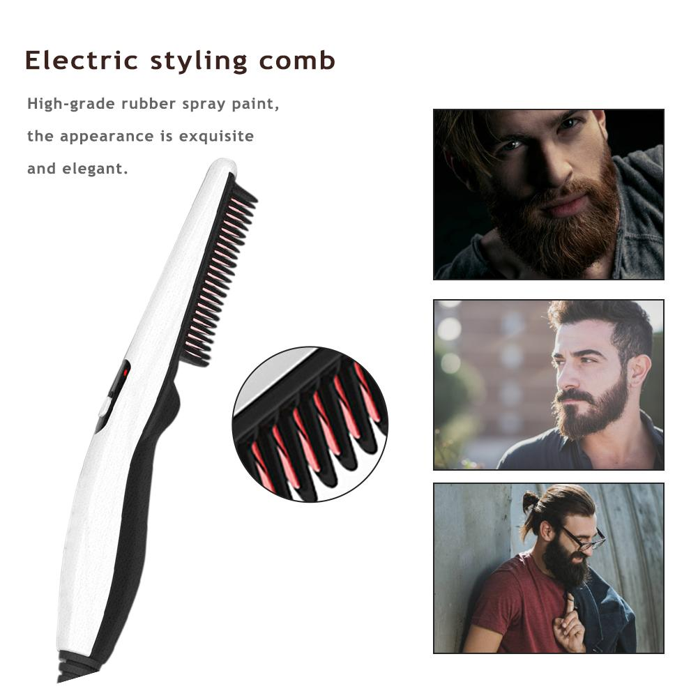 2017 hot sale straight hair comb professional artifacts 3 color 2 plugs electric straight hair fashion beauty styling tools use 1 Piece Multifunctional Men's Electric Styling Comb Beard Straight Heating Comb Curly Hair Comb Electric Hair Comb Unisex