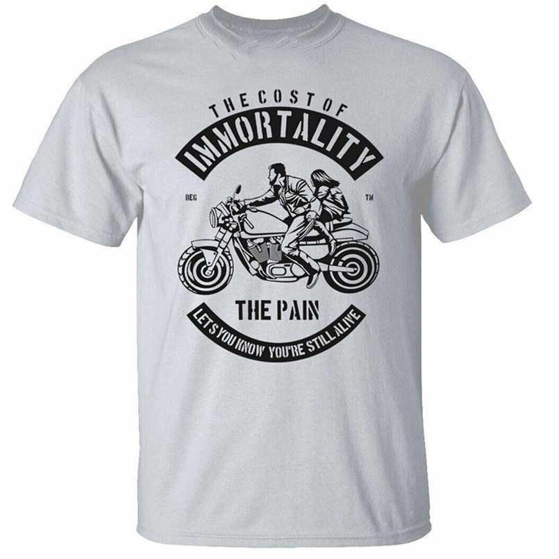 Camiseta para hombre inmorty, camiseta de motorista Pain Rider, ropa de calle, Fitness impresa
