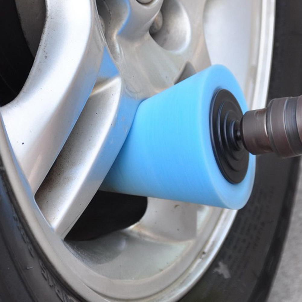 Pulidor de coche neumático rueda herramienta para cubo de rueda espuma de pulido almohadilla de esponja de pulido máquina pulidora cono-forma rueda Hubs disco