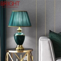 bright ceramic table lamps brass desk light dimmer home decoration for living room bedroom corridor hotel