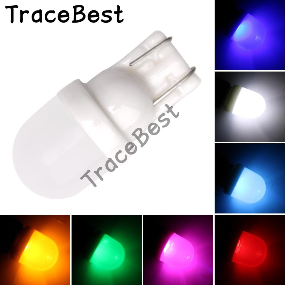4 piezas blanco 12V DC T10 W5W 194 2LED 5630 liquidación coche con luces bombilla blanca/azul/rojo/ámbar/Verde/púrpura