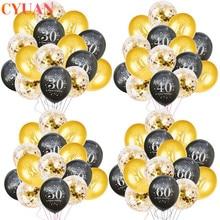 Joyeux Anniversaire 30 40 50 60 Anniversaire Anniversaire décoration adulte Latex Ballon numéro hélium Ballon 30th Ballon Anniversaire