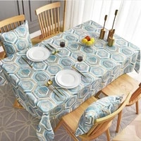 nordic style geometric patterns tablecloth waterproof cafe table cover rectangle table cover wedding decoration tablecloth