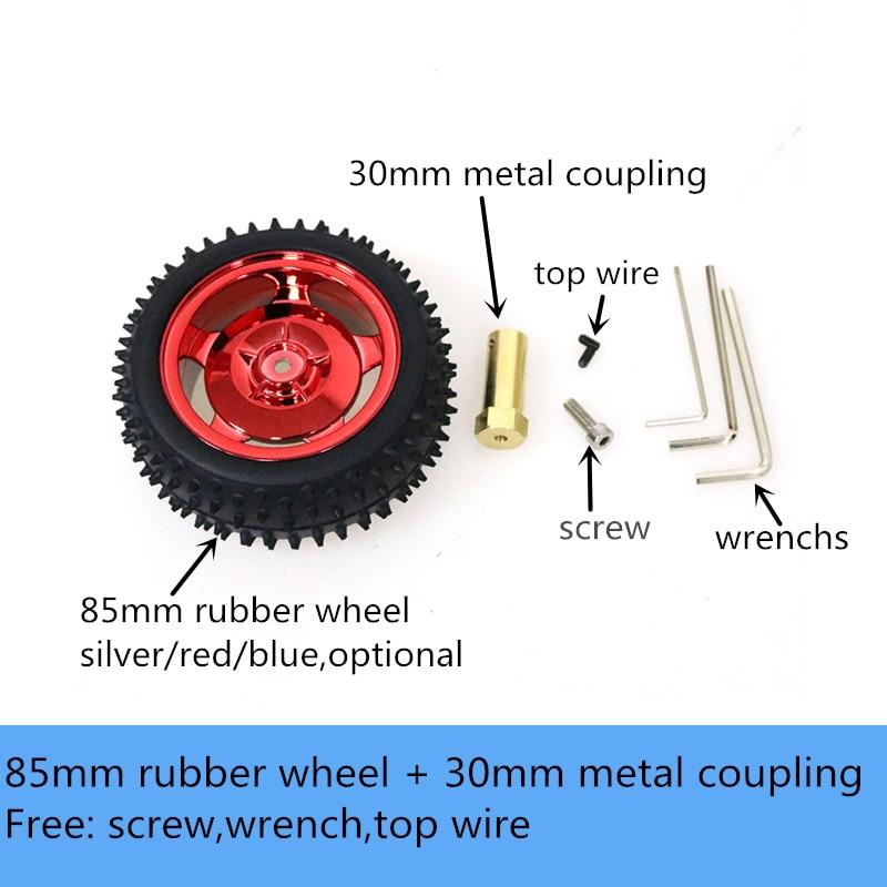 Резиновое колесо 85 мм + удлиненная мет�