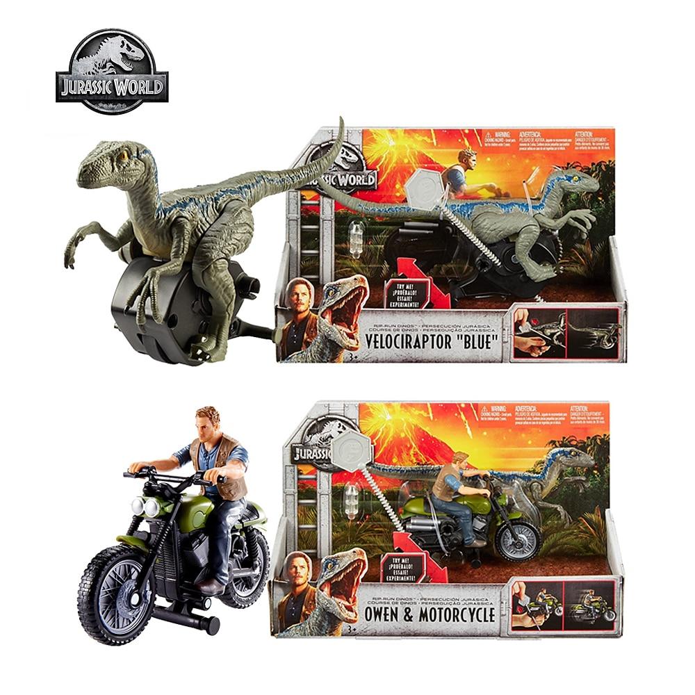 Mattel Jurassic World Attack Pack Velociraptor Bru Motorcycle Owen Pursuit Series Toys for Kids Children Birthday Gift FMM33