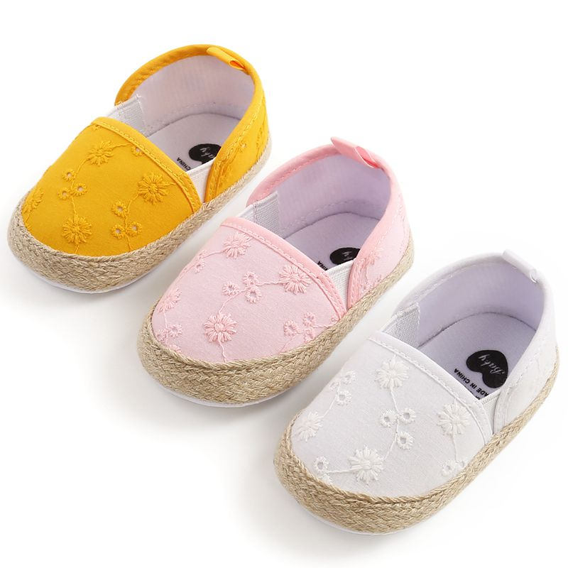 Embroidery Toddlers Baby Cotton Shoes Cute Infant Baby Soft Bottom First walkers Baby Anti-slip Baby shoes