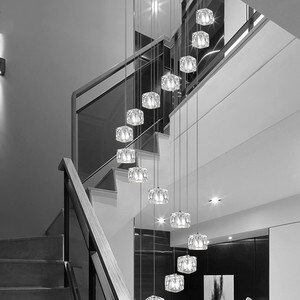 Custom creative personality rotating duplex Pendant Lights modern minimalist restaurant art LED lights wf4241630