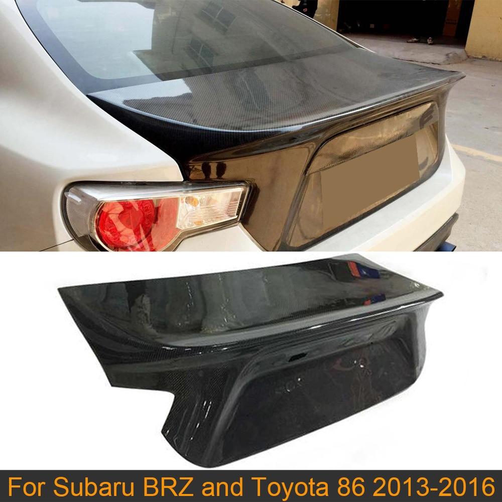 Moldura para cubierta de maletero de coche para Toyota 86 Subaru BRZ 2013-2020 tapa trasera de maletero de coche tapa de maletero embellecedora de fibra de carbono